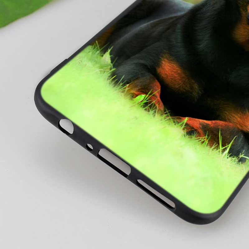 Silicone Phone Bag For OPPO F5 F7 F9 A5 A7 R9S R15 R17 Black Soft Silicone Phone Case Cool Rottweiler Style in Fitted Cases from Cellphones Telecommunications