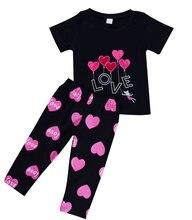 2 шт футболка и штаны для девочек с принтом