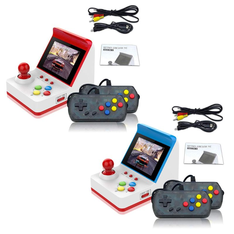 Portable Retro Mini Handheld Game Console 3 Inch 8bit 360 Video Classic Games Family Mini Screen Display Console Gift