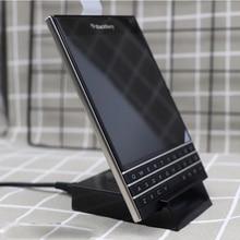 Base de datos Original para sincronizar datos de carga rápida para Blackberry Priv Station, cargador de acoplamiento de escritorio, Cable USB para Blackberry Passport