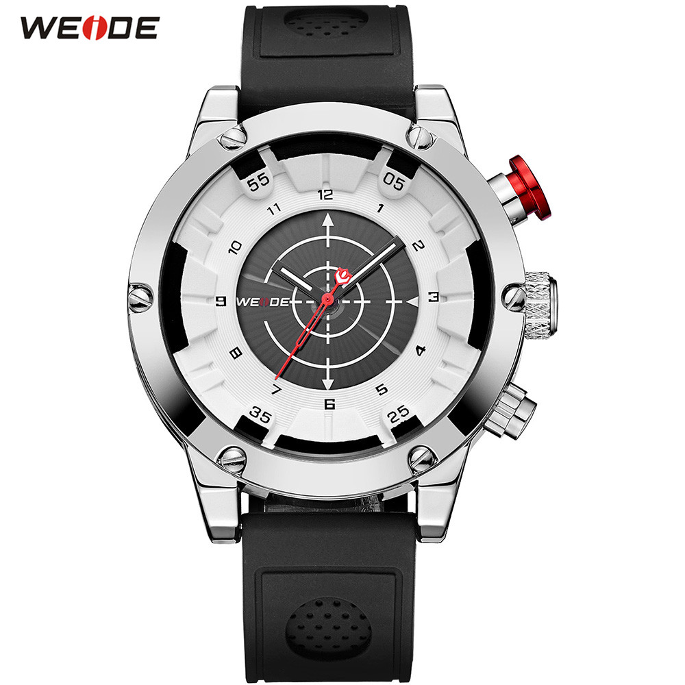 NEW Fashion Top Brand WEIDE Men White Analog Watch Sport Watch Men Digital Quartz Waterproof Silicone Band Wristwatches Relogios