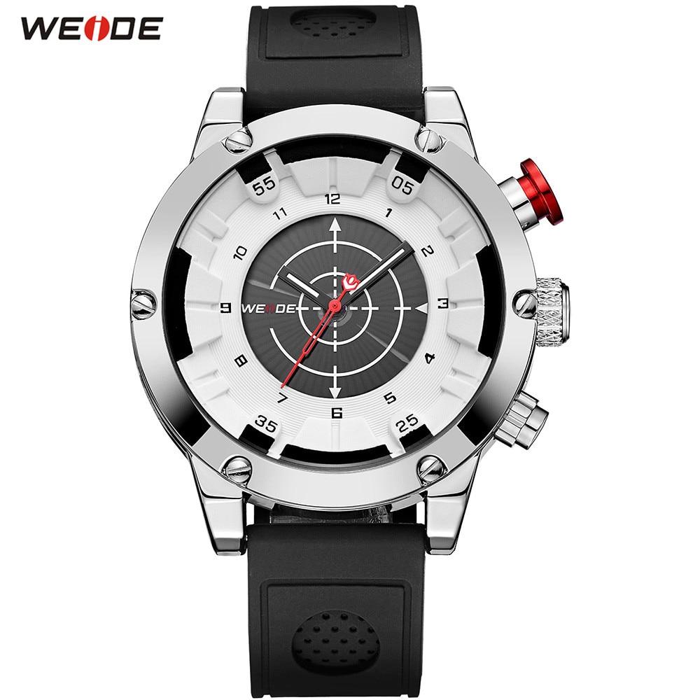 NEW Fashion Top Brand WEIDE Men White Analog Watch Sport Watch Men Digital Quartz Waterproof Silicone Band Wristwatches Relogios v6 super speed v0155 men s silicone band analog quartz wrist watch black white