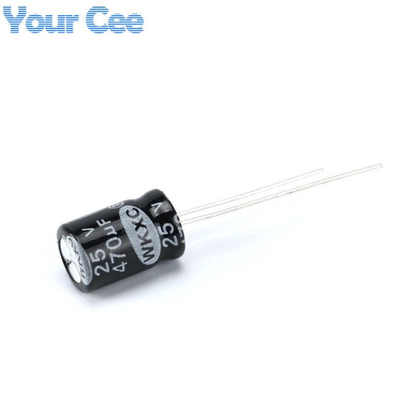 100 pcs Electrolytic Capacitors 25V 470UF 8X12MM Aluminum Electrolytic Capacitor