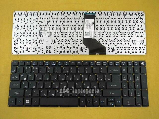 Новый RU Русский Клавиатура для acer Aspire E5-575 E5-575G E5-575TG E5-523 E5-523G E5-552 клавиатура без рамки, WIN8