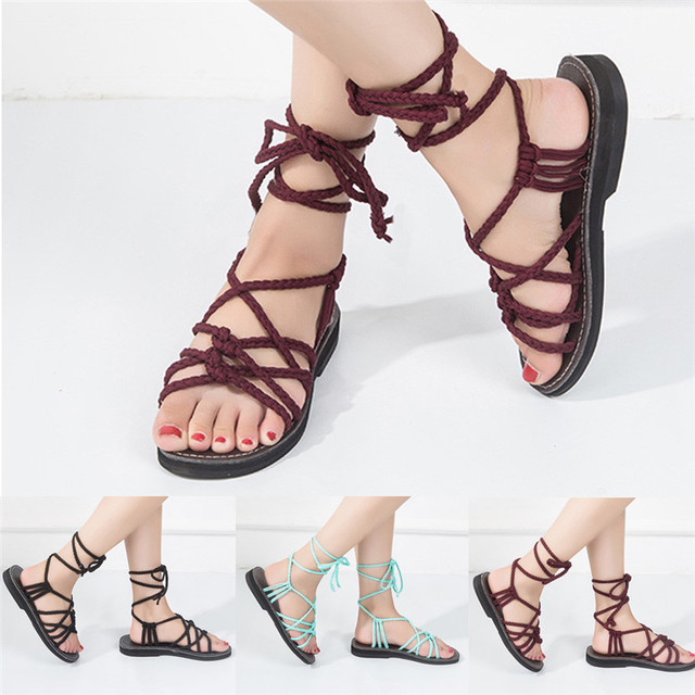 8c3cc17c0966 2018 Hot Sale Sandals Women Cross Strap Roman Sandal Summer Shoes Slipper  Fashion Beach Shoes Slippers sandalias mujer 2018 S