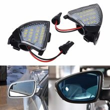 2x Error Free 18 LED Side Mirror Puddle Light for Vw for Golf 5 for Mk5 for MkV for Passat for Jetta for Eos APR22(China)