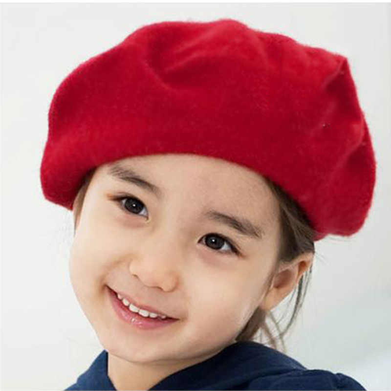 Spring Winter Colorful The Dome Cap Buds Hat For Children Beret Kids Baby Girls Hat Beanies 5 Color BB0110