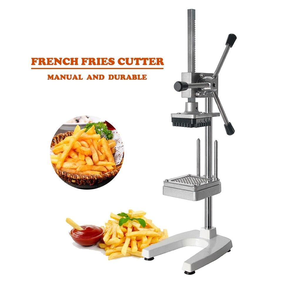 GZZT Commerciale Manuel Français Fry Cutter De Pommes De Terre Puces machine de découpage en lamelle Maker Slicer Gadgets accessoires de cuisine Chopper