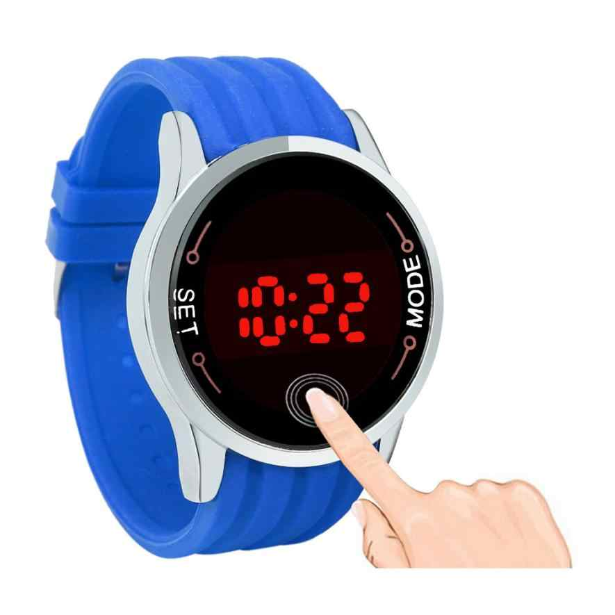 Montre relojes de pantalla táctil LED para hombre, relojes deportivos de silicona para mujer, reloj Digital informal, relojes de fecha de día, reloj Masculino # Zer