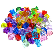 50Pcs Multicolor acrylic diamond table scatters for wedding party decoration crystal gems vase filler confetti