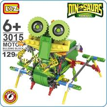 LOZ ideas Motor Building Block Robotic Ankylosaur ankylosaurus Machine Dinosaur Robots Action font b Toys b