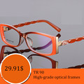 2016 New TR90 glasses myopia eye glasses frame women optical frame spectacle prescription lens eyeglasses