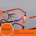 2016 nuevo TR90 gafas gafas de miopía marco mujeres espectáculo marco óptico lente de la prescripción