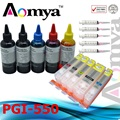 5C PGI-550/CLI-551 Refill Ink Kit and Full Ink Cartridges For Canon Pixma IP7250 MG5450 MG5550 IX6850 MX725 MX925 MG5650 MG6650