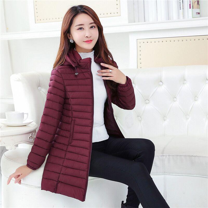 Woxingwosu women's hooded parkas cotton coat,mid- long cotton padded jacket size XL to 4xl 5xl 6xl 7xl 8xl