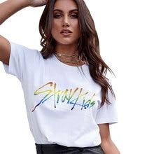 Kpop Stray Kids Mixtape Album Korean Clothes T Shirt Short Sleeve Tops Kawaii Stay fans gift Letter Print Graphic Tee