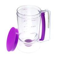 2 X кексы массового дозаторы для выпечки Инструменты 900 мл емкость булочки кексы практика Пластик ударные диспенсер фиолетовый