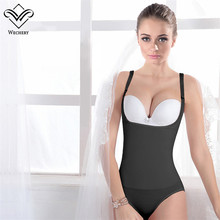 Wechery Body Shapers Bodysuits for Women Cinta Modeladora Waist Trainer Latex Shapewears Corset Sexy Slimming Underwear Waist