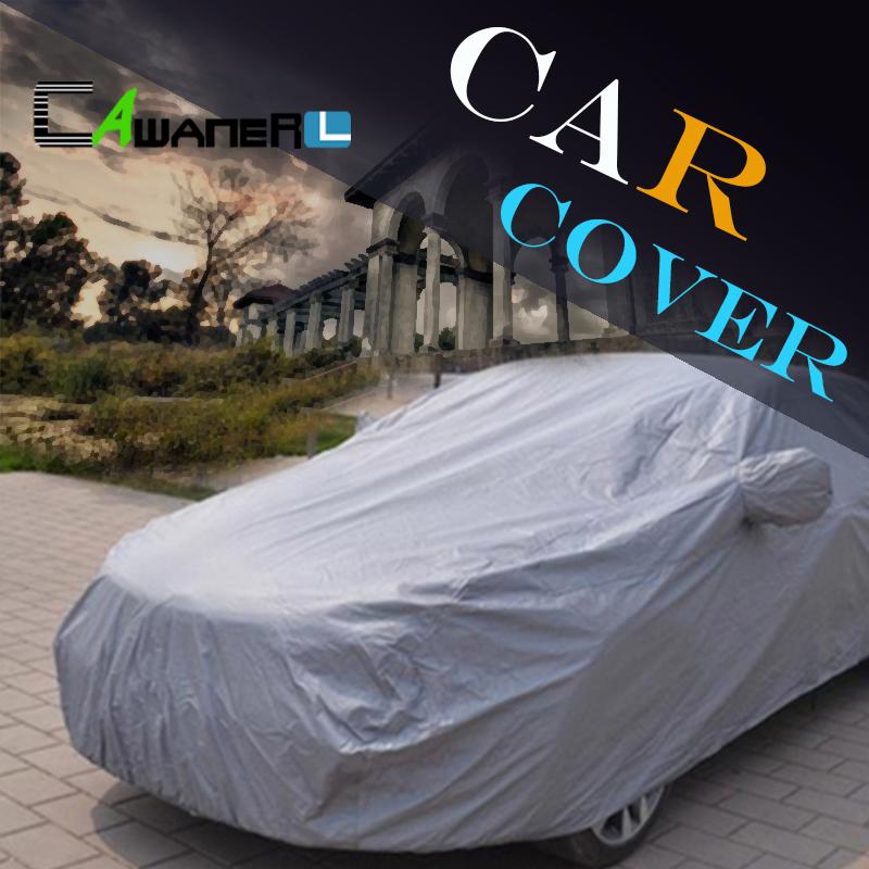 Prix pour Cawanerl SUV Couverture De Voiture Parasol Soleil En Plein Air Pluie Neige Couverture Anti UV Résistant Aux Rayures Antipoussière Accessoires De Voiture Universel