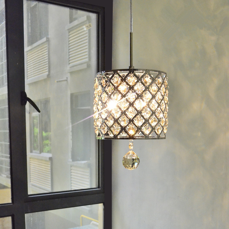 LED Crystal Pendant Lights Dining Room Lamp Cord Pendant Lustres Light Fixtures Bar Dimming Light Lamp Hanging Ceiling Kitchen