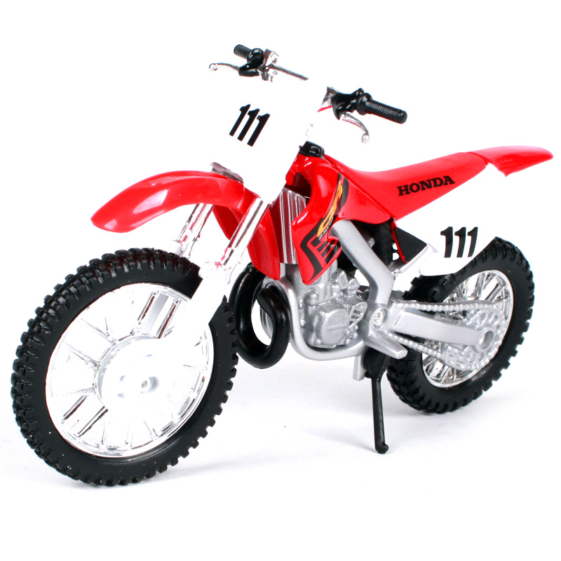 Maisto 1:18 Honda CR250R red motorcycle diecast real looking seats and spokes motorcycle model toy as gift for men 336