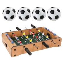 4 Uds juegos de plástico Mesa futbol soccer Soccerball deportes regalo redondo interior juego 32mm futbolín Mesa fiesta niños jugar Juguetes
