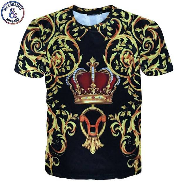 Summer style Mens 3d Floral Luxury Print