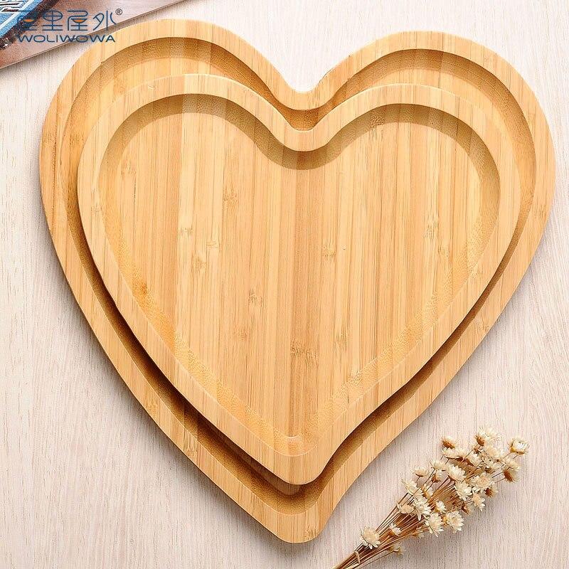 En Forma De Corazon Creativo Fruta Moderna De Bambu Seco Salon - Bambu-seco