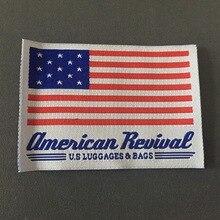 Custom Double Density Clothing Fag Label Woven Flag