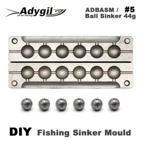 adygil diy bola de pesca chumbador molde adbasm 5 bola chumbador 44g 6
