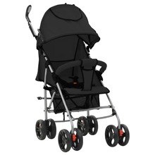 VidaXL 0-36 Months Baby Stroller 2 In 1 Folding Baby Strollers 5-Point Seat Belt Removable Front Bumper Adjustable Seat Footrest недорого