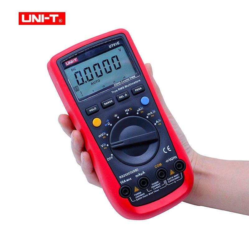 UNI-T UT61E True Rms Digital Multimeter 22000 Counts data hold PC Connect ACDC Voltage CurrentResistanceCapacitance Tester