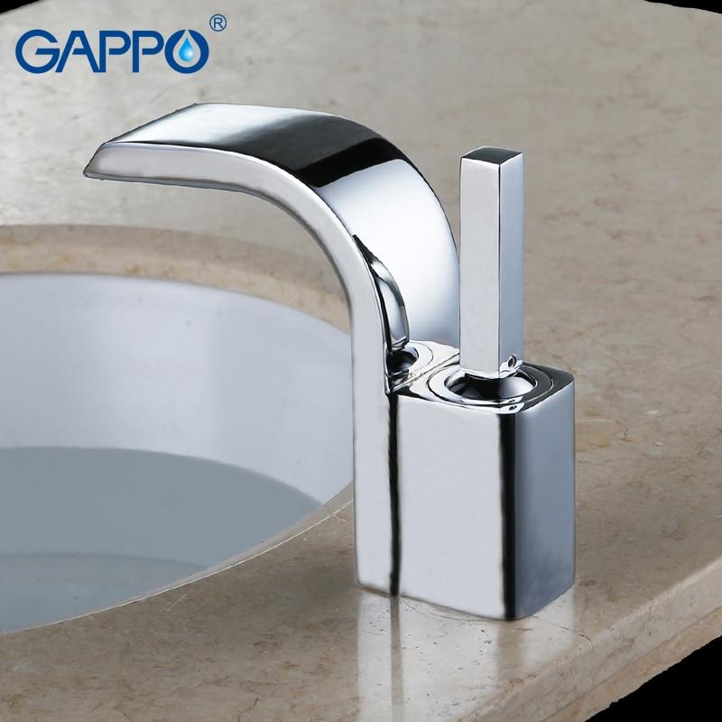 GAPPO basin faucet mixer chrome bathroom basin mixer tap waterfall faucet bathroom sink taps torneira  wash basin sink faucet