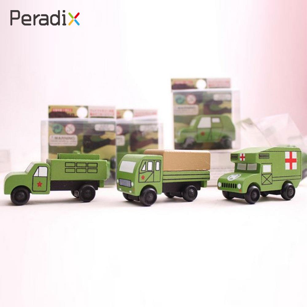 Peradix Wooden Car Model Hefeng Wooden Vehicle 3 Generation 12pcs Pre-School Xmas Gift Kids Hand Toy Decor