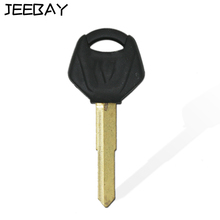 black 44mm Key Blank forYamah Motorcycle motocicleta Metal Uncut Blade Key With Plastic Upper for XJR1300 XJR400 FZ400 YZF600 R1