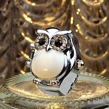 2017 hot sale,  arrival creative women fashion watch lady girl steel quartz finger ring with-watch retro owl finger watch