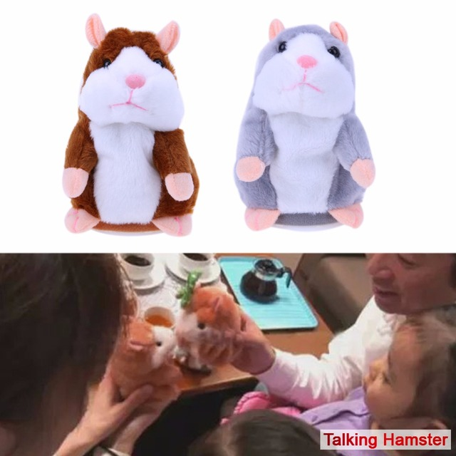 Kawaii Talking Hamster Kids Plush Toys Pet Learn To Speak Talking Sound Record Hamster Stuffed Doll Toy for Children Kids Gift