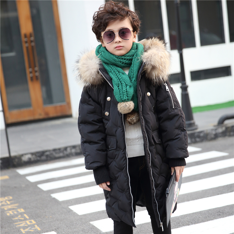 2017 fashion winter Boy's Girl's down jackets coat long warm Children's winter clothing Outerwear Boy's thick duck down jacket elsa shoes сандалии