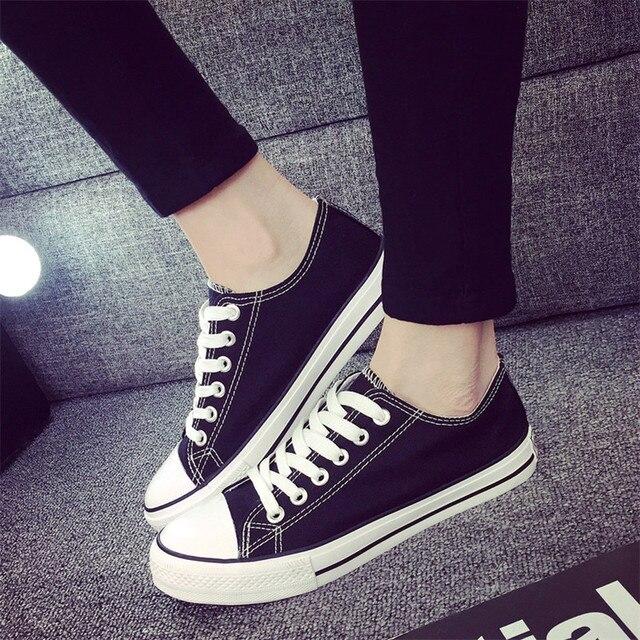 La sra. victoria Mujeres Zapatos de Lona de la Estrella de Primavera y Verano Zapatos Casuales Entrenadores Caminando Zapatos de Skate Pisos Tenis Chaussure Femmes