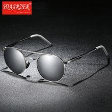 NEW High Quality Brand Round Driving Men Sunglasses Polarized Women Mirror Sun Glasses Male HD oculos de sol masculino With Box стоимость