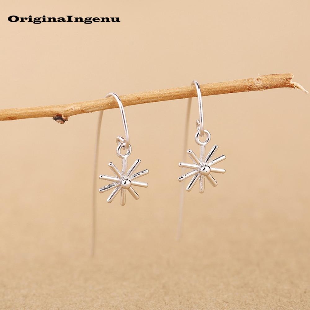 Vintage Jewelry 925 Sterling Silver Earrings Simple Mini Silver Special Pendant Shape Minimalist Earrings For Women Brinco