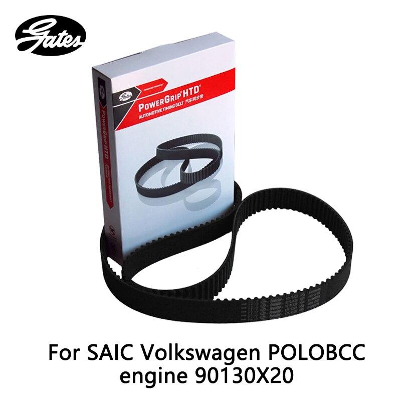 Courroie de distribution Gates pour moteur SAIC Volkswagen POLO BCC 1.4 (2002-2007) 90130X20 pièce auto
