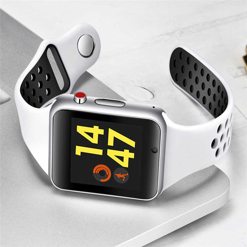2019 Lite nuevo reloj inteligente hombres mujeres deporte podómetro OLED Color pantalla conexión teléfono móvil sincronización soporte tarjeta TF SIM