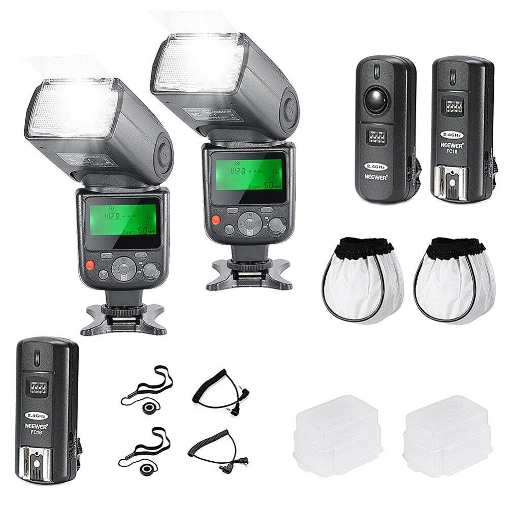 Neewer PRO NW670 E-TTL flash photo Kit pour CANON Rebel T5i T4i T3i T3 EOS 700D 650D 600D appareils photo reflex numériques/Canon EOS M appareil photo compact