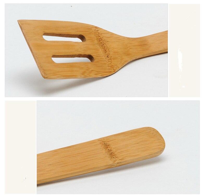 Bambou En Bois Spatule Grattoir Cuisine Cuisine Outil Ustensile