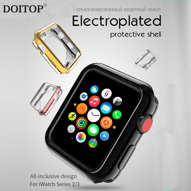 DOITOP Anti-sale Ultra Mince Tpu Transparent Cas Pour Apple montre 3 2 38 42mm Protection Couverture Pour Apple Montre 3 B3