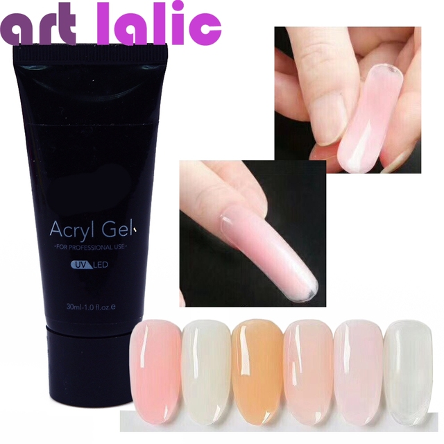 30ml French Nail Art Uv Gel Soak Off Led Nails Extension Crystal