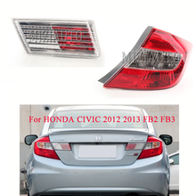 MIZIAUTO Tail Rear Light Trunk Lamp For HONDA CIVIC 2012 2013 FB2 FB3 Car-Styling High Quality Left Right Inner Outer Tail Lamp high quality chrome head light cover for honda civic 2012 free shipping