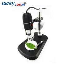 Luckyzoom HD USB Камеры/Видео 8 СВЕТОДИОДНЫЙ Цифровой Микроскоп 40x Окуляр Портативный ручной Электронный 40x-800x Увеличение продажа