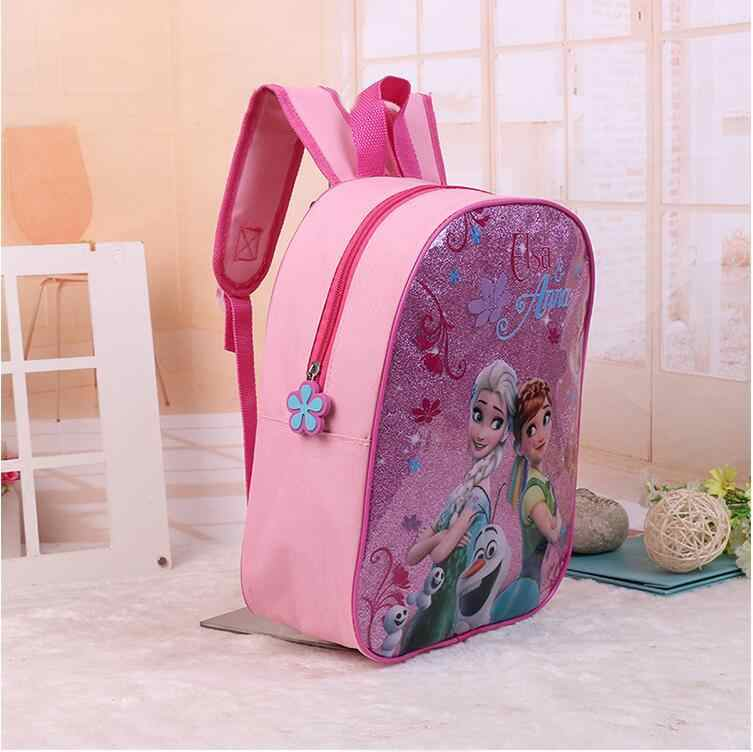 8163b0a3166 ... 3pcs princess Disney children backpack lunch Elsa bag pencil cartoon  case Frozen handbag girl boy gift ...